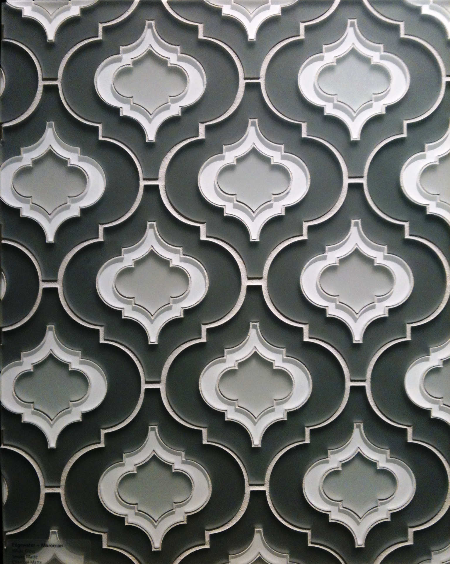 Smoke Gray Tile Modern Pattern Diva Interior Concepts