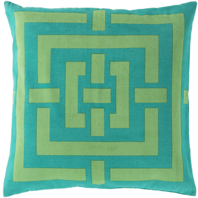 Lime Green & Turquoise Pillow