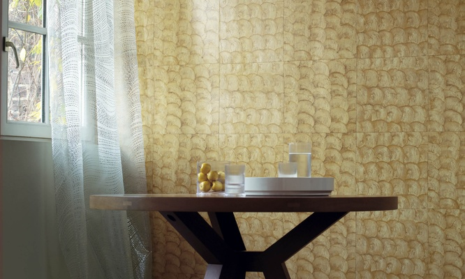 shells vinyl wall covering | diva interior concepts