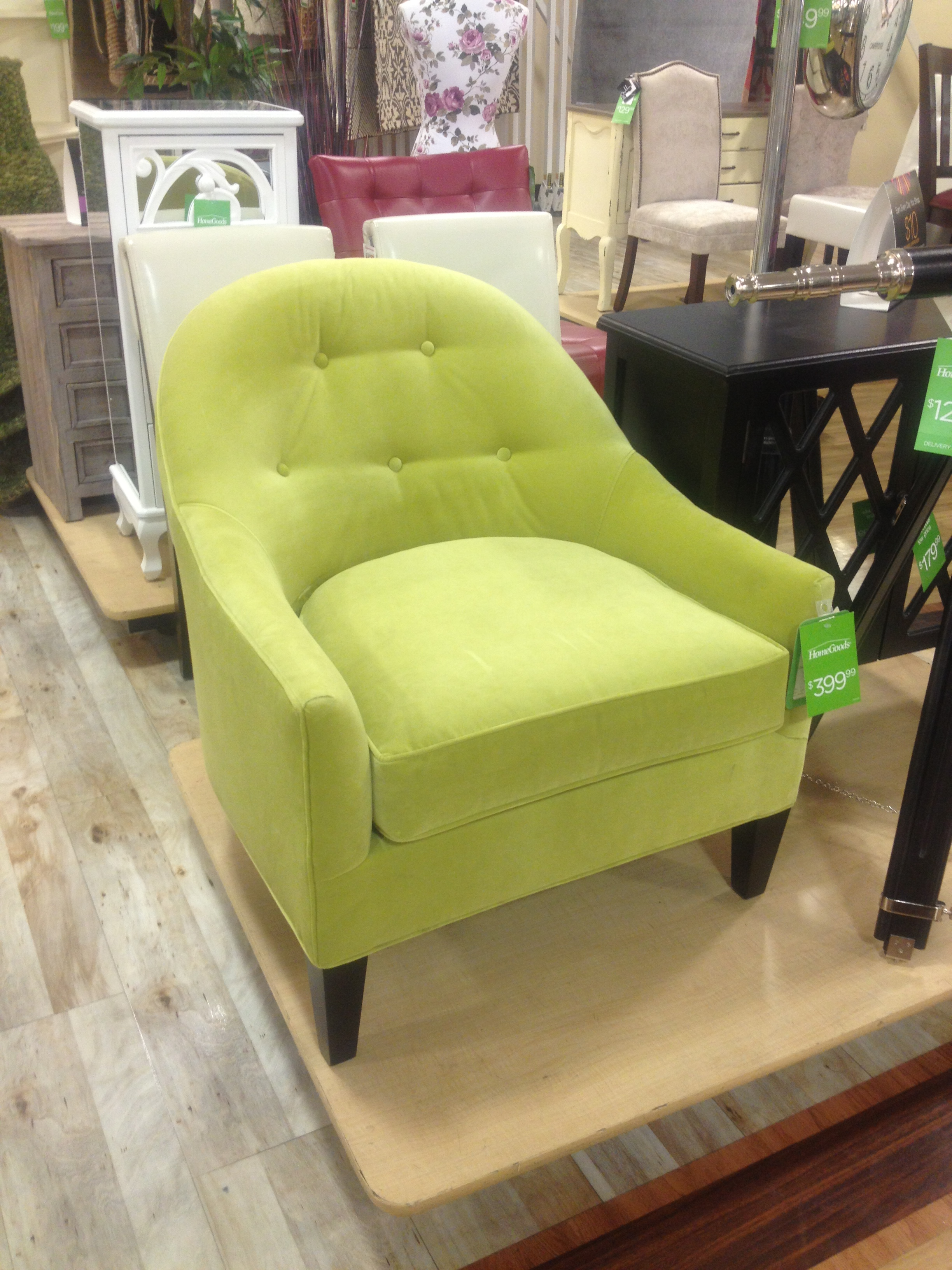 Home Decor in Lime Green