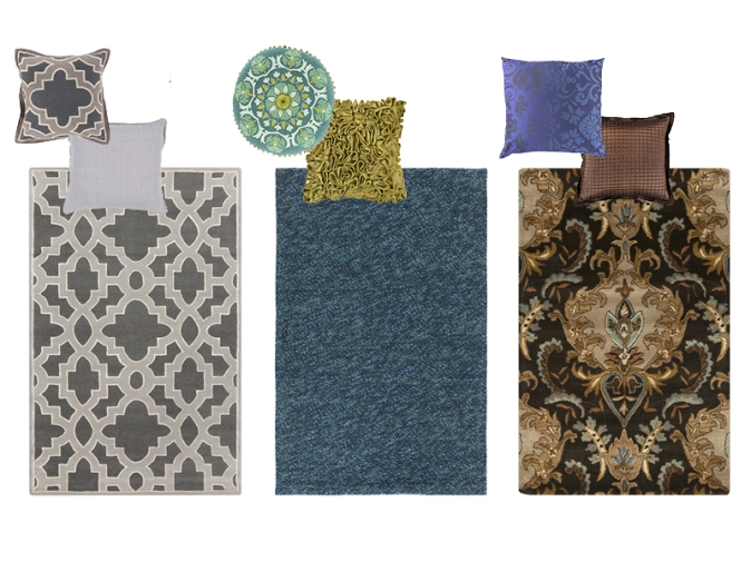 Area Rugs and Decorative Pillows