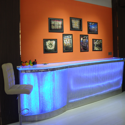 Art Glass Bar Counter