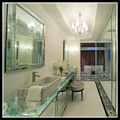 Art Glass Bathroom