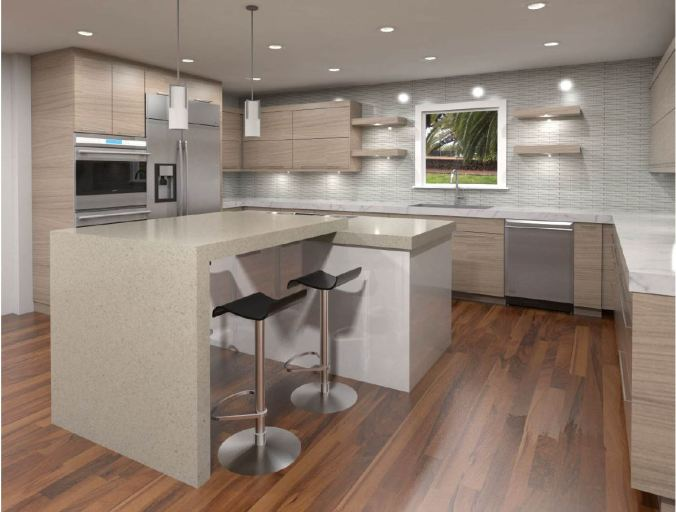 Modern Kitchen Cabinets Light Wood Finishes